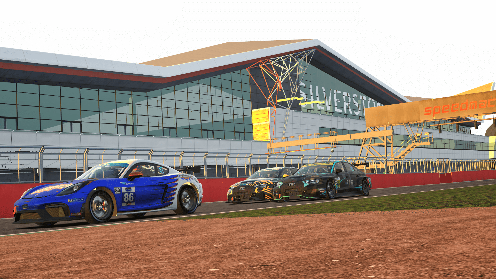 iRacing Endurance Championship TCR battle Silverstone