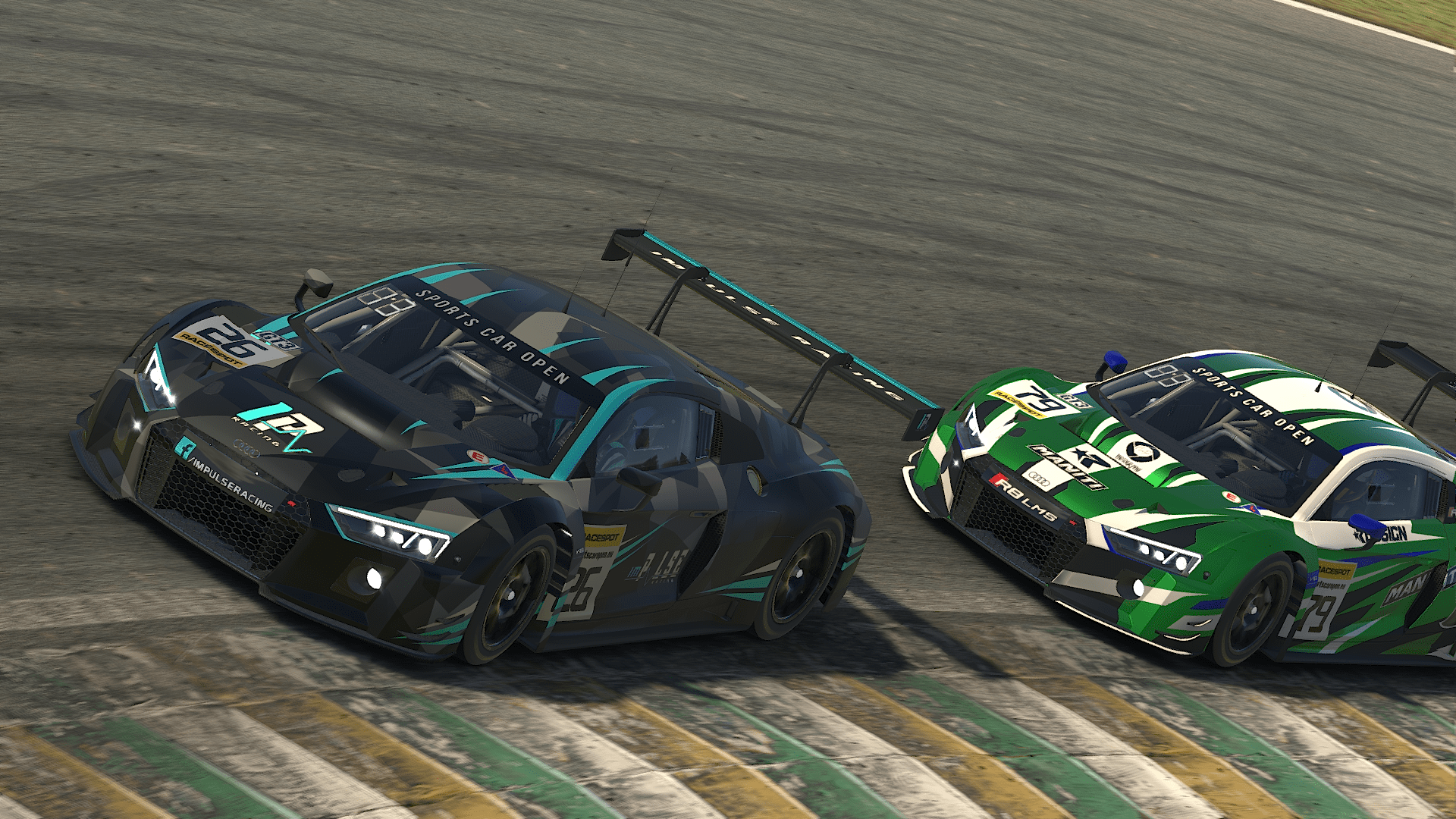 Audi R8 GT3 at Interlagos against Maniti Racing
