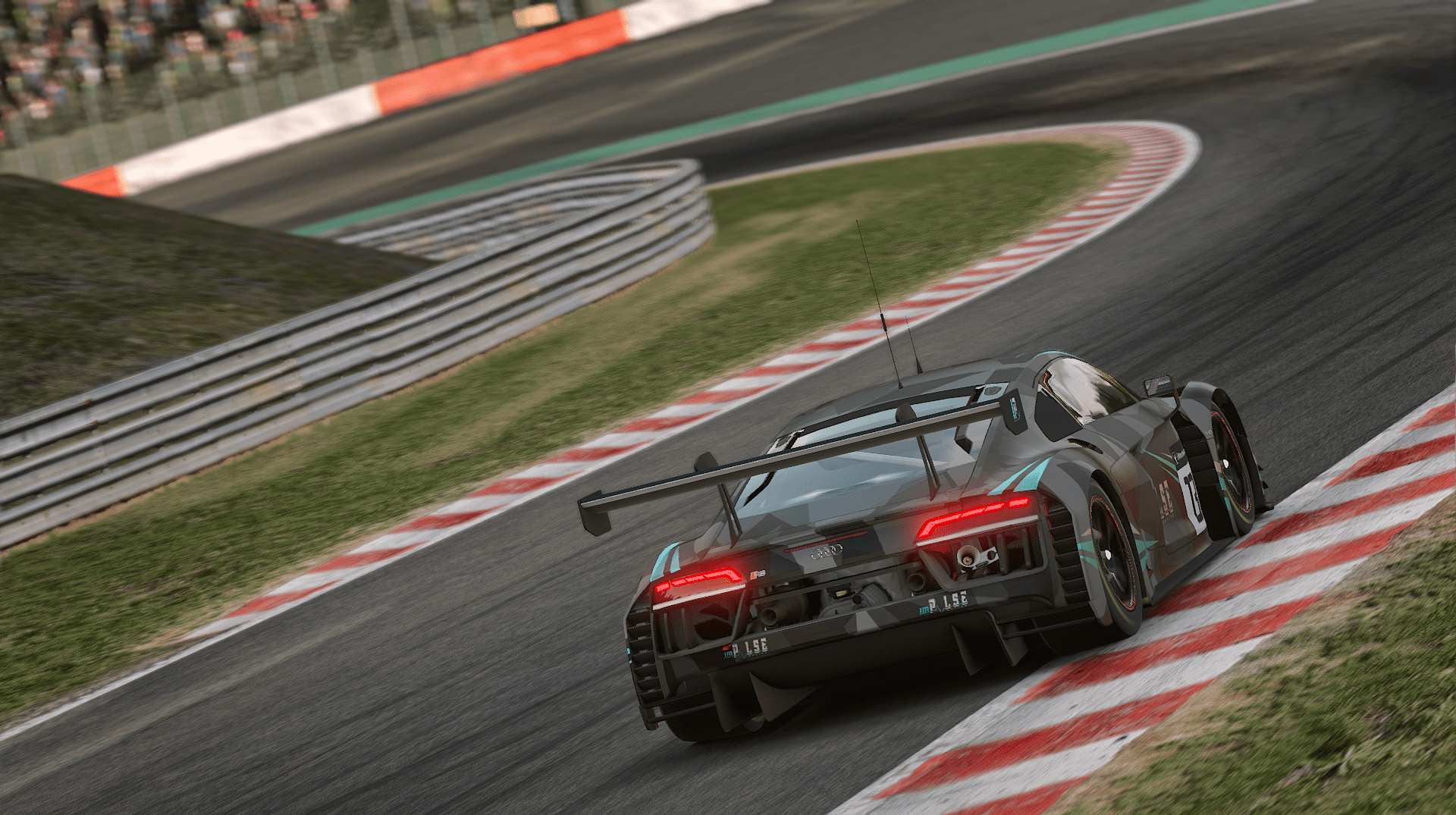 Audi GT3 24h of Spa Puhon from the Back