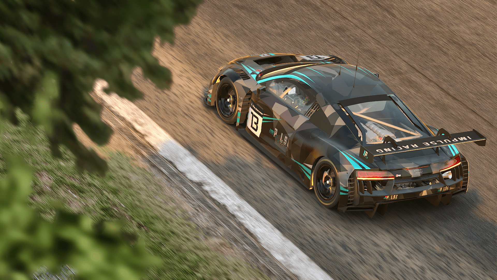 Audi GT3 from Top in Blanchimont