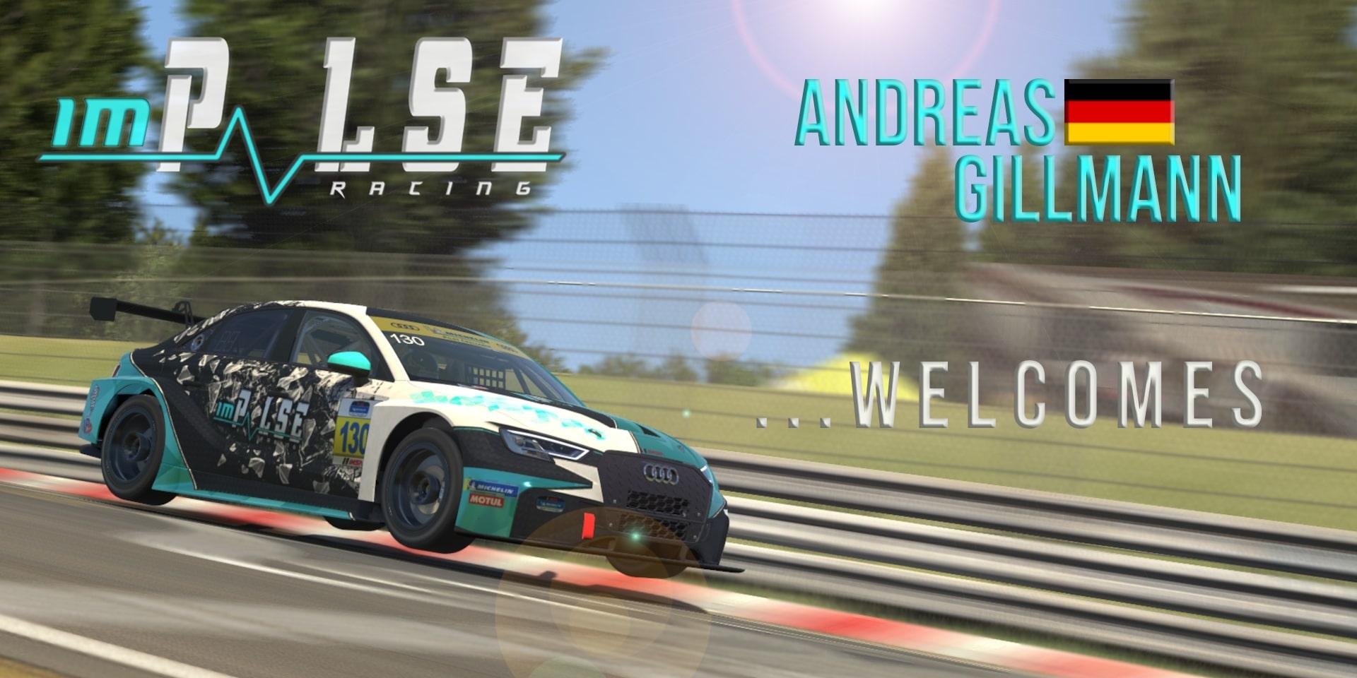 New Driver Andreas Gillmann