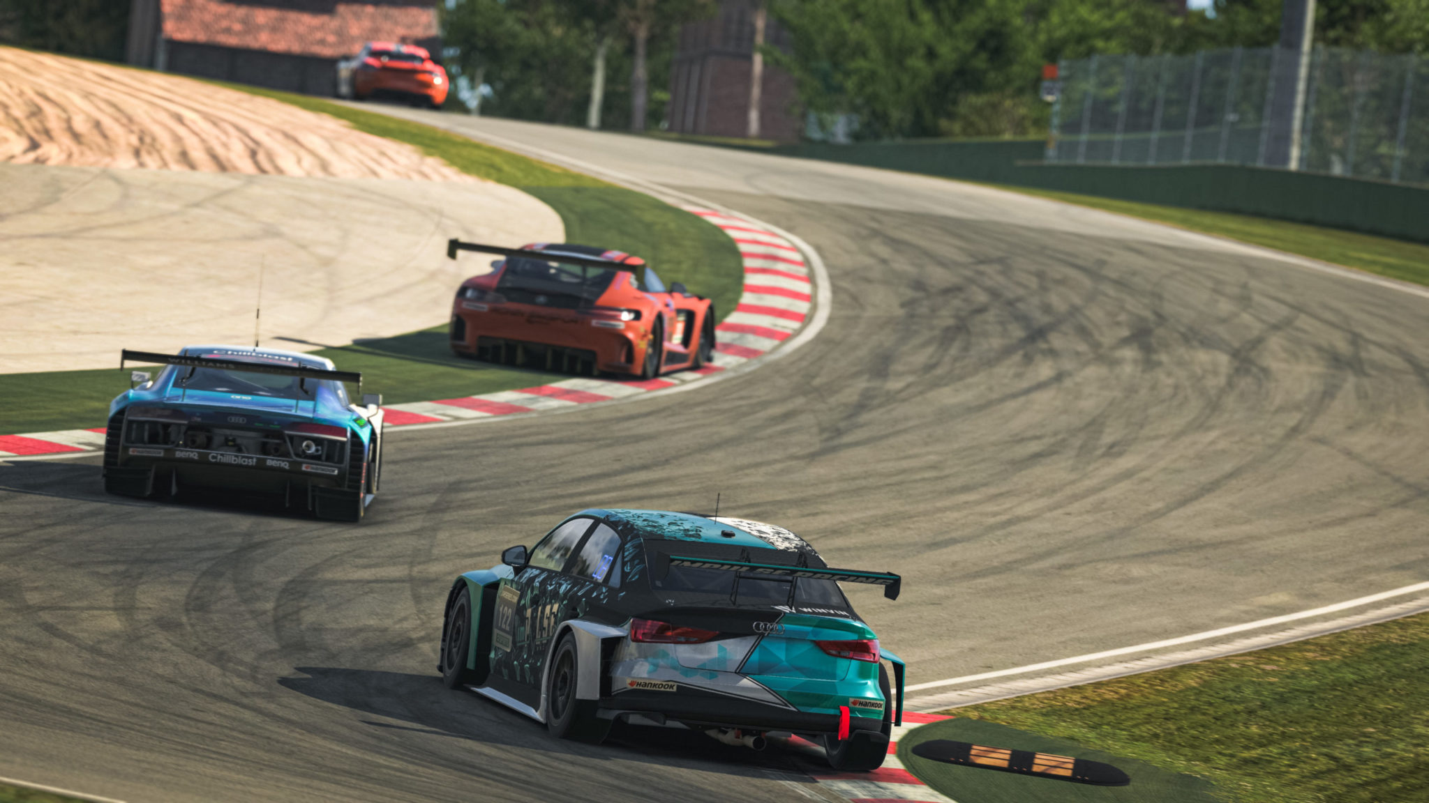 TCR in traffic at imola 24 series esports